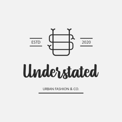 Clothing Brand Logo Generator Featuring a Monogram Icon 3598b-el1