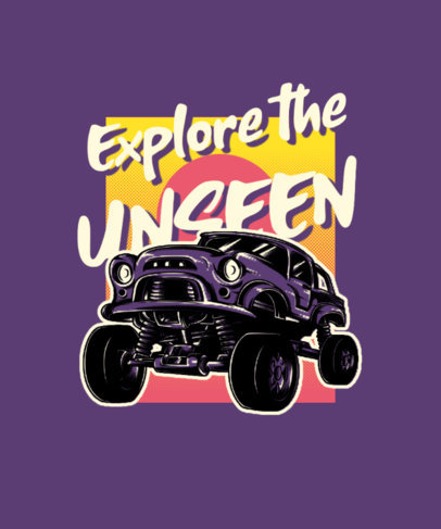 T-Shirt Design Maker for an Adventurous Squad with an Off-Road Car Graphic 3624e-el1