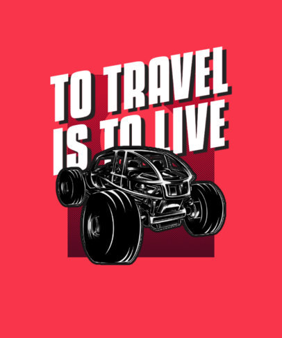 Illustrated T-Shirt Design Generator with a Beach Buggy Graphic 3624b-el1