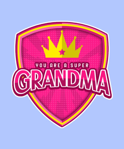 Super-Hero-Inspired T-Shirt Design Maker for a Cool Granny 3463c