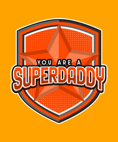Superhero-Themed Family T-Shirt Design Generator for a Great Dad 3463g