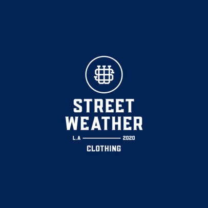 Simple Monogram Logo Template for a Streetwear Brand 3600b-el1