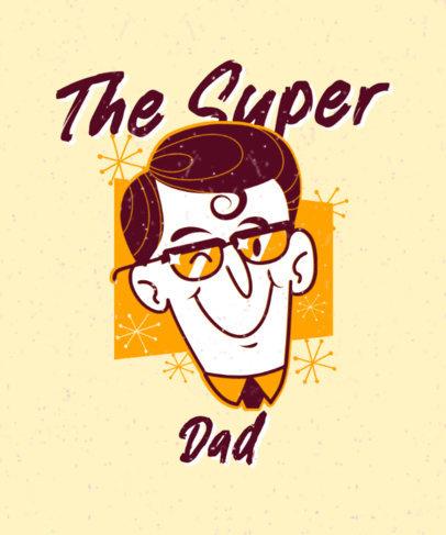 Vintage Superhero-Themed T-Shirt Design Maker for a Dad 3467f