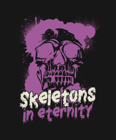Horror-Themed T-Shirt Design Creator with a Skull Graphic and Text 3452c