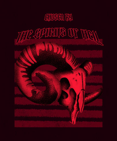 Satanic T-Shirt Design Maker with a Goat Skull Graphic 3453c