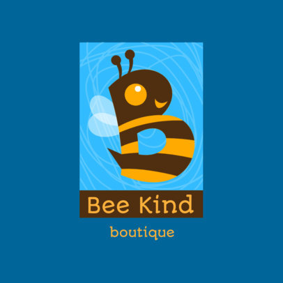 Logo Generator for a Kids' Clothing Store Featuring a Bee Graphic 4123f