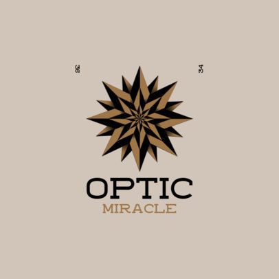 Logo Template with an Optic Illusion Graphic 4116h