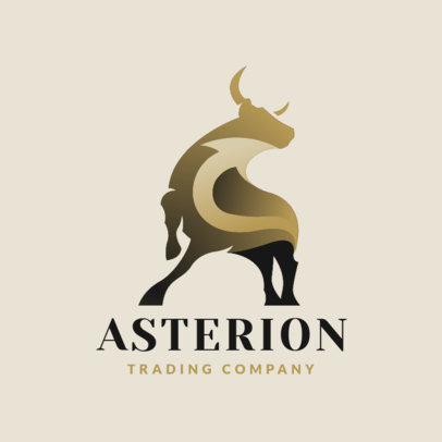 Logo Maker for a Trading Company with an Elegant Bull Graphic 4112l