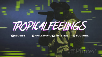 Twitch Offline Screen Video Maker for Music Streamers with a Glitchy Loop Animation 2652