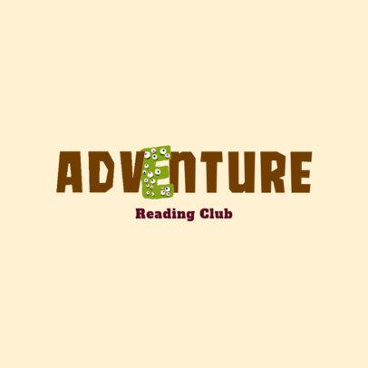 Kids' Book Club Logo Generator Featuring a Cute Monster Letter 4122d