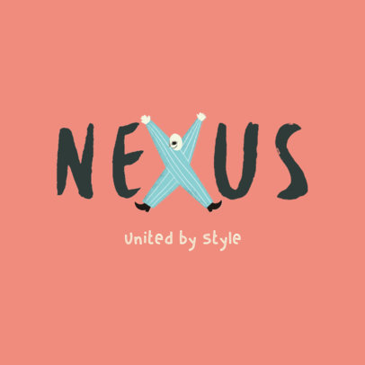 Kids' Apparel Logo Generator Featuring an Illustrated Character 4122h