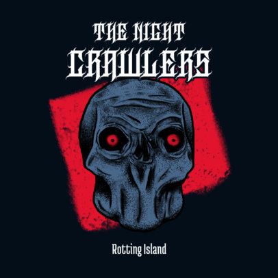 Album Cover Design Maker for a Goth Rock Band with a Skull Graphic 3454a