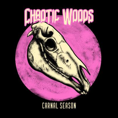 Creepy Album Cover Design Template for Heavy Metal Bands 3454c