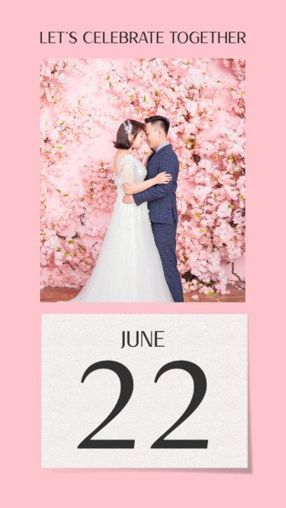 Instagram Story Design Generator Featuring a Wedding Date 3630b-el1