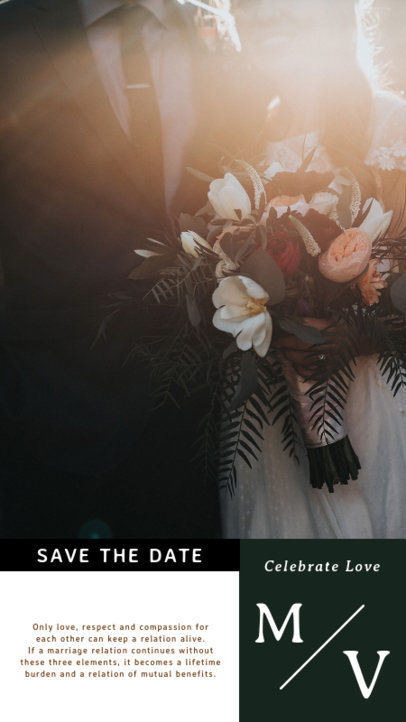 Instagram Story Design Template Featuring a Wedding Theme 3628-el1