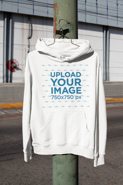Mockup Featuring a Hoodie Hanging From a Light Pole m457