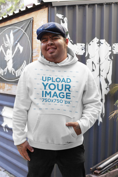 Pullover Hoodie Mockup of a Happy Man Posing 32864a