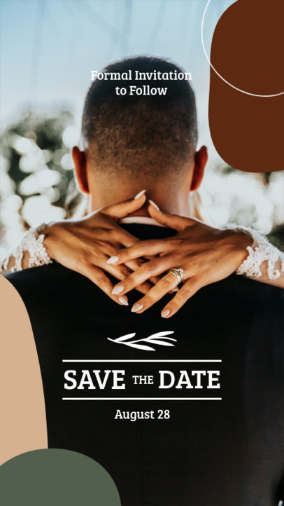 Wedding-Themed Instagram Story Maker for a Save-the-Date Announcement 3632-el1
