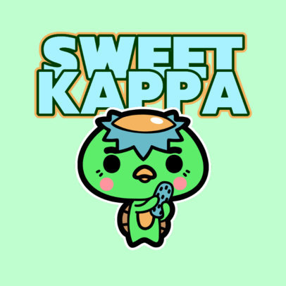 Kids Clothing Store Logo Creator with a Cute Kawaii Character 4146c