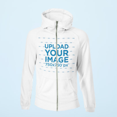 Mockup of a Ghosted Full-Zip Hoodie with a Customizable Backdrop 40007-r-el2