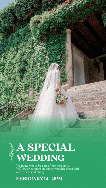 Instagram Story Generator for an Online Wedding Invitation 3636d-el1