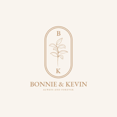 Wedding Logo Maker Featuring Minimal Graphics and an Elegant Style 3648-el1