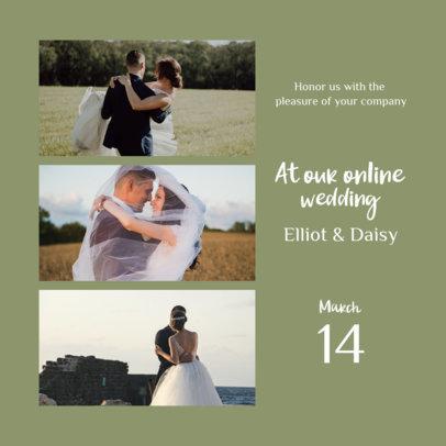 Instagram Post Design Generator for Virtual Weddings 3646d-el1