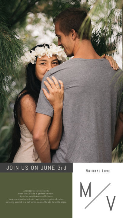 Beautiful Instagram Story Design Creator for an Engaged Couple 3628c-el1