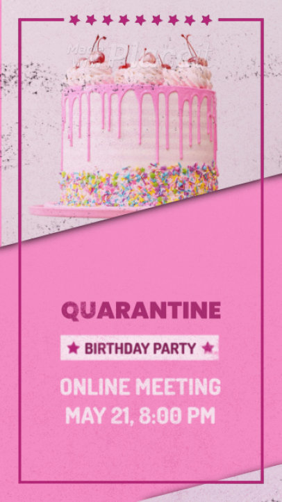 Instagram Story Video Maker Featuring Animated Star Graphics for a Birthday Message 1361a 2939