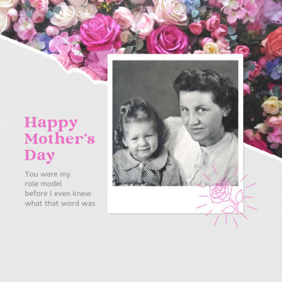 Mother's Day Instagram Post Design Template Featuring a Compelling Quote 3980h