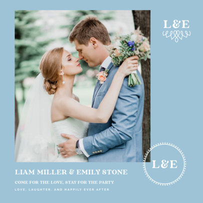Wedding-Themed Instagram Post Maker with a Simple Layout 3638a-el1