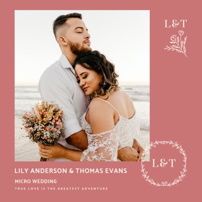 Sweet Instagram Post Creator for a Wedding-Related Message 3638b-el1