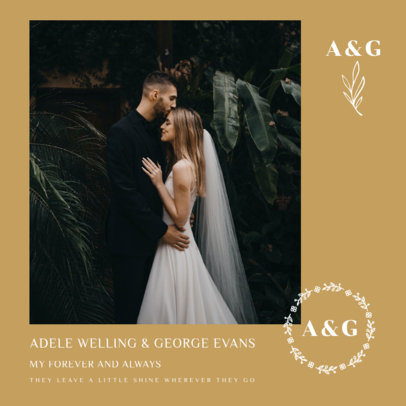 Classy Instagram Post Maker for a Wedding-Related Announcement 3638e-el1