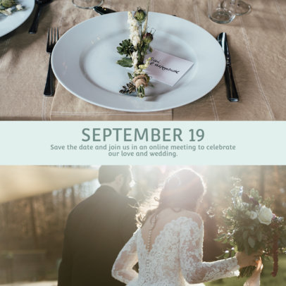 Instagram Post Creator Asking People to Join a Wedding Celebration 3642b-el1