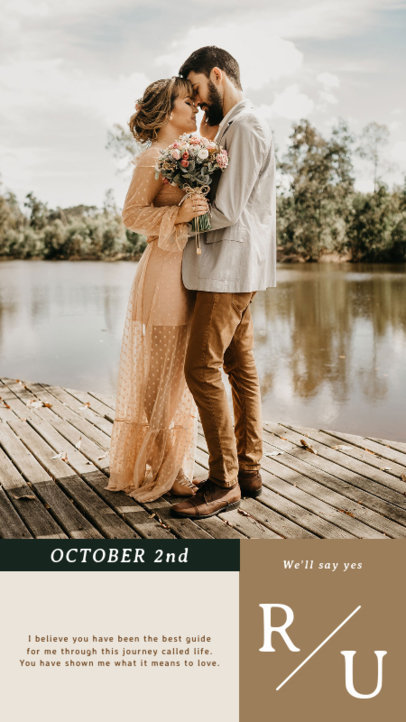 Instagram Story Design Generator for Soon-To-Be-Married Couples 3628d-el1