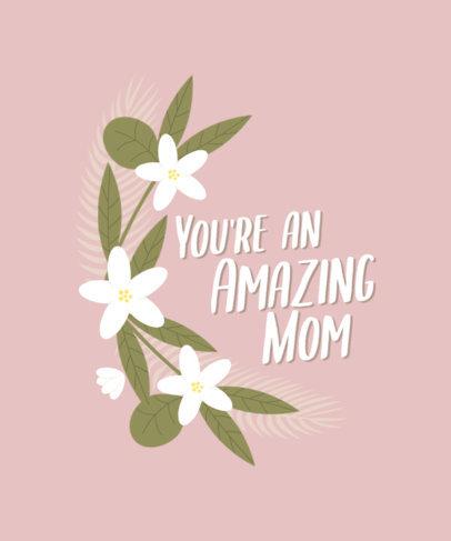 Flower-Themed T-Shirt Design Maker for Mother's Day 3477c
