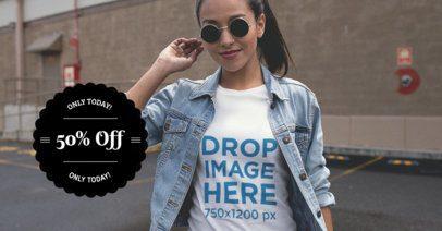Facebook Ad - Circular Badge Girl with Sunglasses 1084