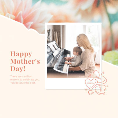 Instagram Post Design Template to Share a Mother's Day Quote 3980g