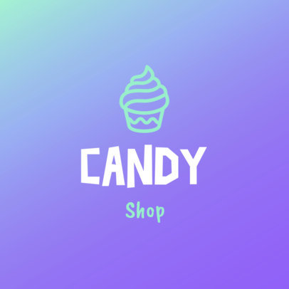 Candy Shop Logo Maker Featuring a Cupcake Graphic 1389b-4136
