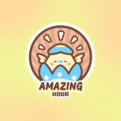 Logo Generator Featuring a Kawaii Chicken Graphic 4144h