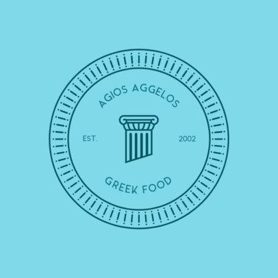 Online Logo Template for Greek Restaurants 4135a