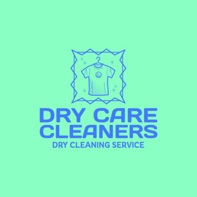 Dry Cleaning Logo Creator with a Garment Graphic 4134b