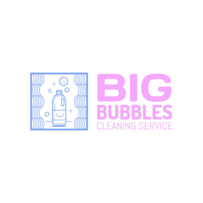 Cleaning Service Logo Generator Featuring Smiling Graphics 4134c