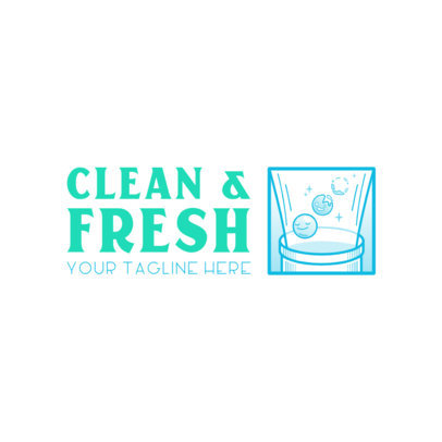 Online Logo Template for a Modern Laundry Service 4134e