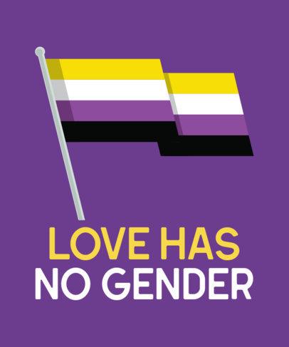 T-Shirt Design Maker Featuring a Non-Binary Pride Flag Clipart 29d