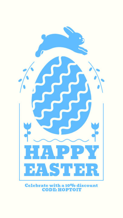 Minimalistic Instagram Story Design Template for Easter 3693-el1