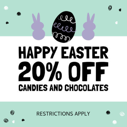 Instagram Post Design Template to Announce Easter Discounts 3689-el1
