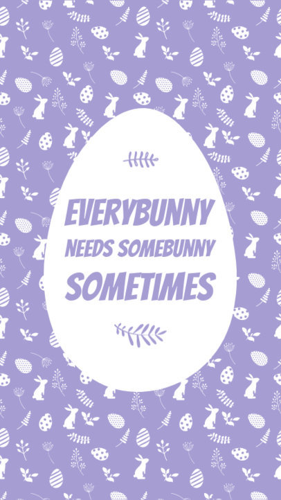 Instagram Story Design Template Featuring an Easter Egg and a Quote 3685a-el1