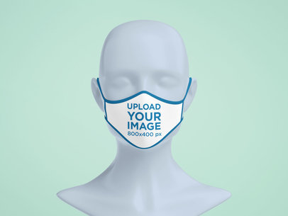 Mockup of a Sublimated Face Mask on a Mannequin's Head 5187-el1