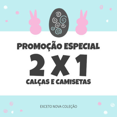 Instagram Post Creator for a Special Easter Promo in Portuguese 3689d-el1